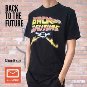 映画 Tシャツ Back to the future バック・トゥ・ザ・フューチャー デロリアン ブラック 80年代 送料無料|free-style