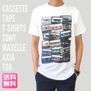 Tシャツ カセットテープ カセット 半袖Tシャツ グラフィックTシャツ ROCK メンズ Tシャツ 送料無料|free-style