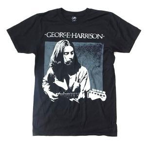 メンズ Tシャツ George Harrison ジョージ・ハリスン フォト ブラック バンドTシャツ 送料無料 free-style