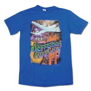Jefferson Airplane ジェファーソン・エアプレイン Tシャツ 飛行機 ブルー メンズ ロックTシャツ バンドTシャツ 送料無料|free-style