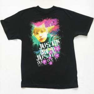 JUSTIN BIEBER ジャスティン・ビーバーTシャツ  2010 WORLD TOUR ブラック メンズ ロックTシャツ バンドTシャツ 送料無料|free-style
