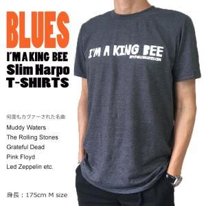 I'M A KING BEE ブルース BLUES Tシャツ Slim Harpo Muddy Waters Rollingstones Tシャツ クルーネックTシャツ メンズ Tシャツ|free-style