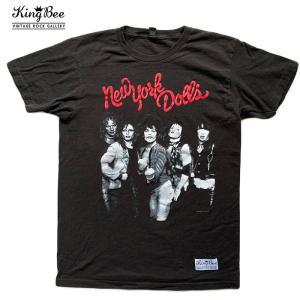 ビンテージ バンドTシャツ New York Dolls ロゴ ロックTシャツ Tシャツ 送料無料 free-style