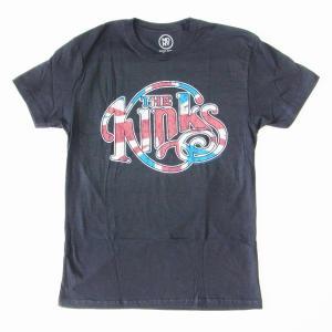 送料無料 メール便 The KINKS ザ・キンクス Tシャツ ユニオンジャック ロゴ ブラック バンドTシャツ|free-style