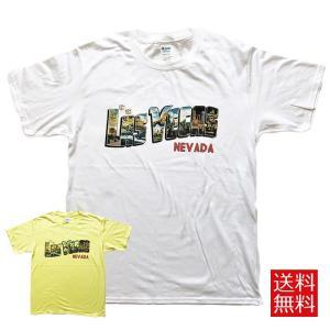 Tシャツ カットソー 半袖 メンズ Las Vegas グラフィック グラフィックTシャツ ビンテージデザイン|free-style