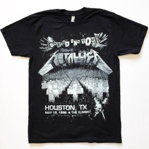 METALLICA メタリカ Tシャツ HOUSTON TX. ブラック メンズ ロックTシャツ バンドTシャツ 送料無料|free-style