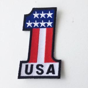 ワッペン パッチ No.1 USA ワッペン バンドワッペン 丸型 ゆうパケット 送料無料|free-style