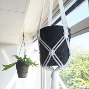 プランツハンガー ハンギング ロープ プランター ハンガー ハンギング 70センチ 編み 送料無料
