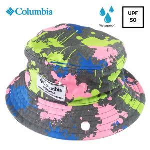 Columbia コロンビア キッズ 帽子 UV 撥水 子供用 ハット UV対策 サイズ調整 ポウワレイクジュニアバケット free-style