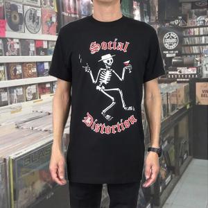 SOCIAL DISTORTION ソーシャル・ディストーション WINE & CIGARETTE ブラック バンドTシャツ|free-style