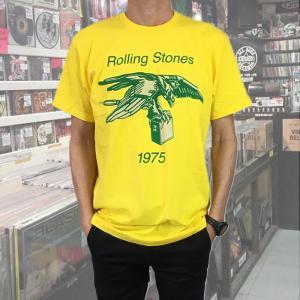 メンズ Tシャツ Rolling Stones ローリング・ストーンズ  1975 イエロー バンドTシャツ 送料無料|free-style