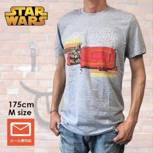 STAR WARS スター・ウォーズ Tシャツ フォースの覚醒 レイ メンズ グレー 映画Tシャツ|free-style
