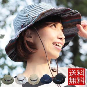 帽子 レディース サファリハット ハット UVカット99.9% エスニック帯 UV対策 サファリ ネイティヴ柄 夏フェス メンズ hat 送料無料|free-style