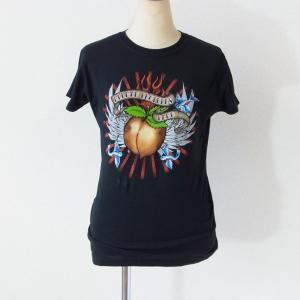 The Allman Brothers Band オールマン・ブラザーズ・バンド Tシャツ ピーチマーク ブラック レディース ロックTシャツ バンドTシャツ 送料無料|free-style
