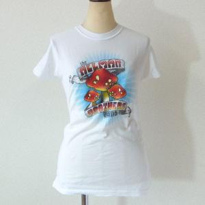 The Allman Brothers Band オールマン・ブラザーズ・バンド Tシャツ マッシュルーム ホワイト レディース ロックTシャツ バンドTシャツ 送料無料|free-style