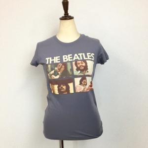 The Beatles ザ・ビートルズ Tシャツ フォトTシャツ グレー  レディース ロックTシャツ バンドTシャツ 送料無料|free-style