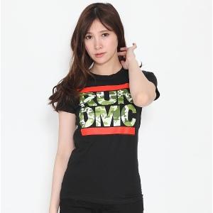 RUN DMC Tシャツ カモフラ ロゴ レディース ロックTシャツ バンドTシャツ 送料無料|free-style