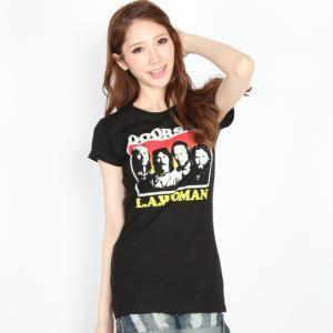 DOORS ドアーズ Tシャツ L.A.WOMEN レディース ブラック ロックTシャツ バンドTシャツ 送料無料|free-style