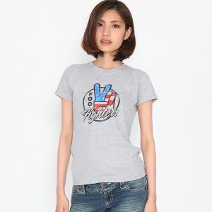 FooFighters フー・ファイターズ Tシャツ 星条旗 ピース ロック  レディース  ロックTシャツ バンドTシャツ 送料無料|free-style
