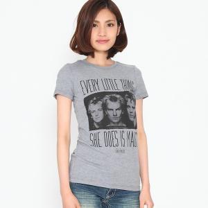 POLICE ポリス Tシャツ グレー レディース  ロックTシャツ バンドTシャツ 送料無料|free-style