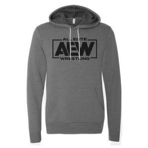 AEW パーカー「AEWロゴ プルオーバーパーカー(グレー)」フード付きスウェットパーカー  ポケット付き 《アメリカ直輸入品》 freebirds