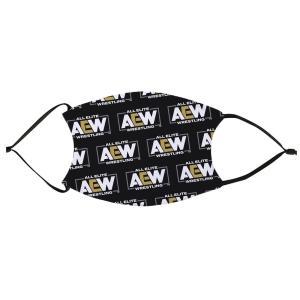 AEW フェイスマスク フィルターポケット付き洗える布製マスク「AEW Logo Mask」 アメリカ直輸入品(フィルター2枚付属) freebirds