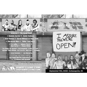 《現品特価》AIW DVD「I Assure You, We're Open!」(2020年9月6日インディアナ州インディアナポリス 有観客野外大会)《アメリカ直輸入盤プロレスDVD》|freebirds