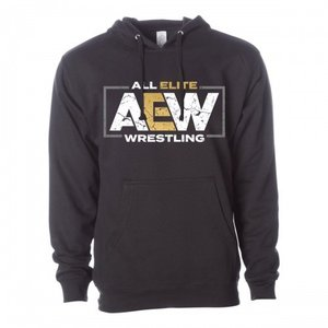 AEW パーカー「AEWロゴ プルオーバーパーカー」フード付きスウェットパーカー ポケット付き 《アメリカ直輸入品》 freebirds