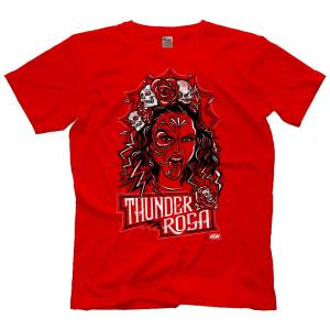 AEW Tシャツ「AEW サンダー・ロサ THUNDER ROSA Bring The Thunder Tシャツ」AEWアメリカ直輸入アメリカンプロレスTシャツ freebirds