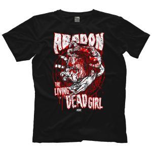 AEW Tシャツ「AEW アバドン 阿婆怒无 ABADON The Living Dead Girl リビング・デッド・ガール Tシャツ」AEWアメリカ直輸入アメリカンプロレスTシャツ freebirds