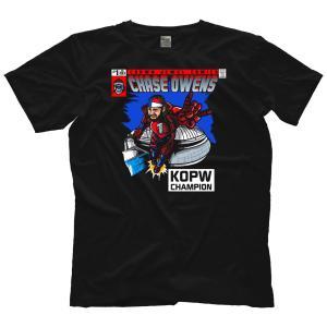 《サイン入り》チェーズ・オーエンズ(新日本プロレス バレットクラブ) 直筆サイン入りTシャツ 「CHASE OWENS KOPW アメコミイラスト Tシャツ」《現品限り》|freebirds