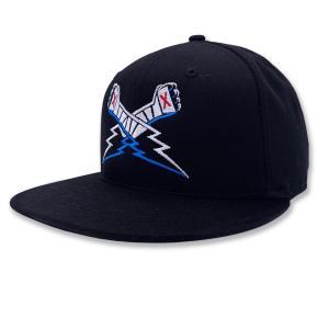CMパンク スナップバックキャップ「CM PUNK Lightning Fists NEW ERA 9Fifty Flatbill Snapback Cap」アメリカ直輸入帽子 サイズ調整可 freebirds
