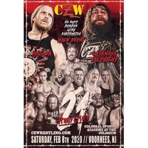 CZW DVD「21st Anniversary Show」(2020年2月8日ニュージャージー州ヴアヒーズ)アメリカ直輸入プロレスDVD|freebirds