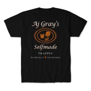 AJグレイ Tシャツ「AJ GRAY Selfmade Trappin(ブラック)Tシャツ Imported from DeathMatch WorldWide」 米直輸入プロレスTシャツ|freebirds