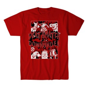 DMDU Deathmatch Downunder Tシャツ「デスマッチ・ダウンアンダー Marsupial Tシャツ Imported from DeathMatch WorldWide」 米直輸入デスマッチTシャツ freebirds