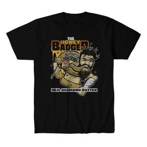 ニール・ダイアモンド・カッター Tシャツ「NEIL DIAMOND CUTTER The Honey Badger Tシャツ Imported from D.M.W.W.」 米直輸入デスマッチTシャツ freebirds