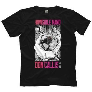 ドン・キャリス(IMPACT!副社長)Tシャツ「DON CALLIS The Invisible Hand  神の見えざる手 Tシャツ」 米直輸入プロレスTシャツ《日本未発売品》 freebirds