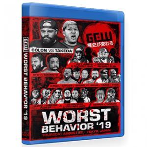 《現品特価》【GCW日本大会ブルーレイ】GCW ブルーレイ「Worst Behavior 最悪の行動」(2019年8月22日東京 新木場1stRING)アメリカ直輸入盤ブルーレイ|freebirds