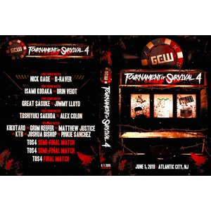 GCW DVD「Tournament Of Survival 4 デスマッチトーナメント」(2019年6月1日アトランティックシティ)米直輸入盤《日本盤未発売》