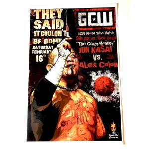 GCW 11×17ミニポスター「GCW 2・16 葛西純 ミニポスター(28センチ×44センチ)」アメリカ直輸入プロレスポスター