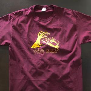《現品特価》プロレス Tシャツ ジム・ナスティ・ボーイズ Tシャツ「THE GYM NASTY BOYS Too Deep(ディープレッド) Tシャツ」アメリカ直輸入|freebirds