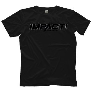 Impact Wreestling Tシャツ「IMPACT! WRESTLING All Black Tシャツ」アメリカ直輸入Tシャツ freebirds