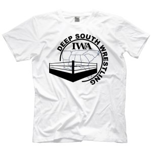 IWAディープサウス Tシャツ「IWA Deep South オールドスクール ロゴ Tシャツ(ブラック)」アメリカ直輸入プロレスTシャツ|freebirds