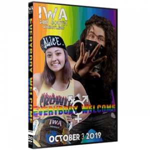 IWAミッドサウス DVD「Everybody Welcome」(2019年10月3日インディアナ州ジェファーソンビル)アメリカ直輸入盤プロレスDVD《日本盤未発売》