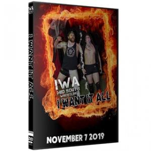 IWAミッドサウス DVD「I Want It All」(2019年11月7日インディアナ州ジェファーソンビル)アメリカ直輸入盤プロレスDVD《日本盤未発売》