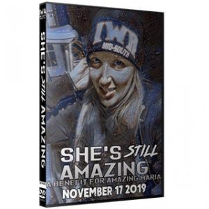 IWAミッドサウス DVD「She's Still Amazing」(2019年11月17日インディアナ州ジェファーソンビル)アメリカ直輸入盤プロレスDVD《日本盤未発売》