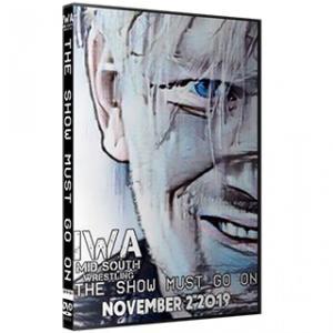IWAミッドサウス DVD「The Show Must Go On」(2019年11月2日インディアナ州ジェファーソンビル)アメリカ直輸入盤プロレスDVD《日本盤未発売》