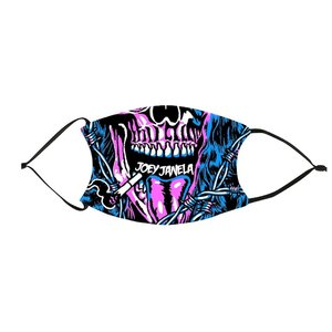 ジョーイ・ジャネラ フィルターポケット付き布製プリントマスク「AEW JOEY JANELA Mask」 アメリカ直輸入品(フィルター2枚付属) freebirds