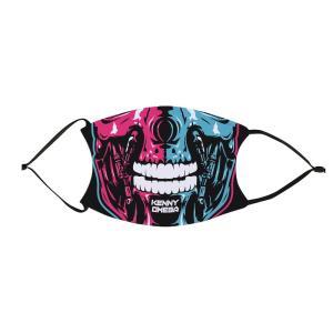 ケニー・オメガ フィルターポケット付き布製プリントマスク「AEW KENNY OMEGA Terminator Mask」 アメリカ直輸入品(フィルター2枚付属) freebirds