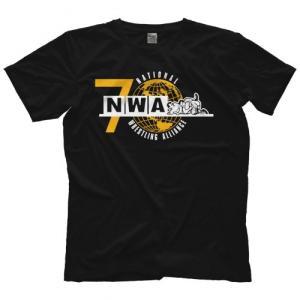 NWA(National Wrestling Alliance) Tシャツ「NWA NWA 70th Anniversary Tシャツ(ブラック)」米直輸入プロレスTシャツ freebirds